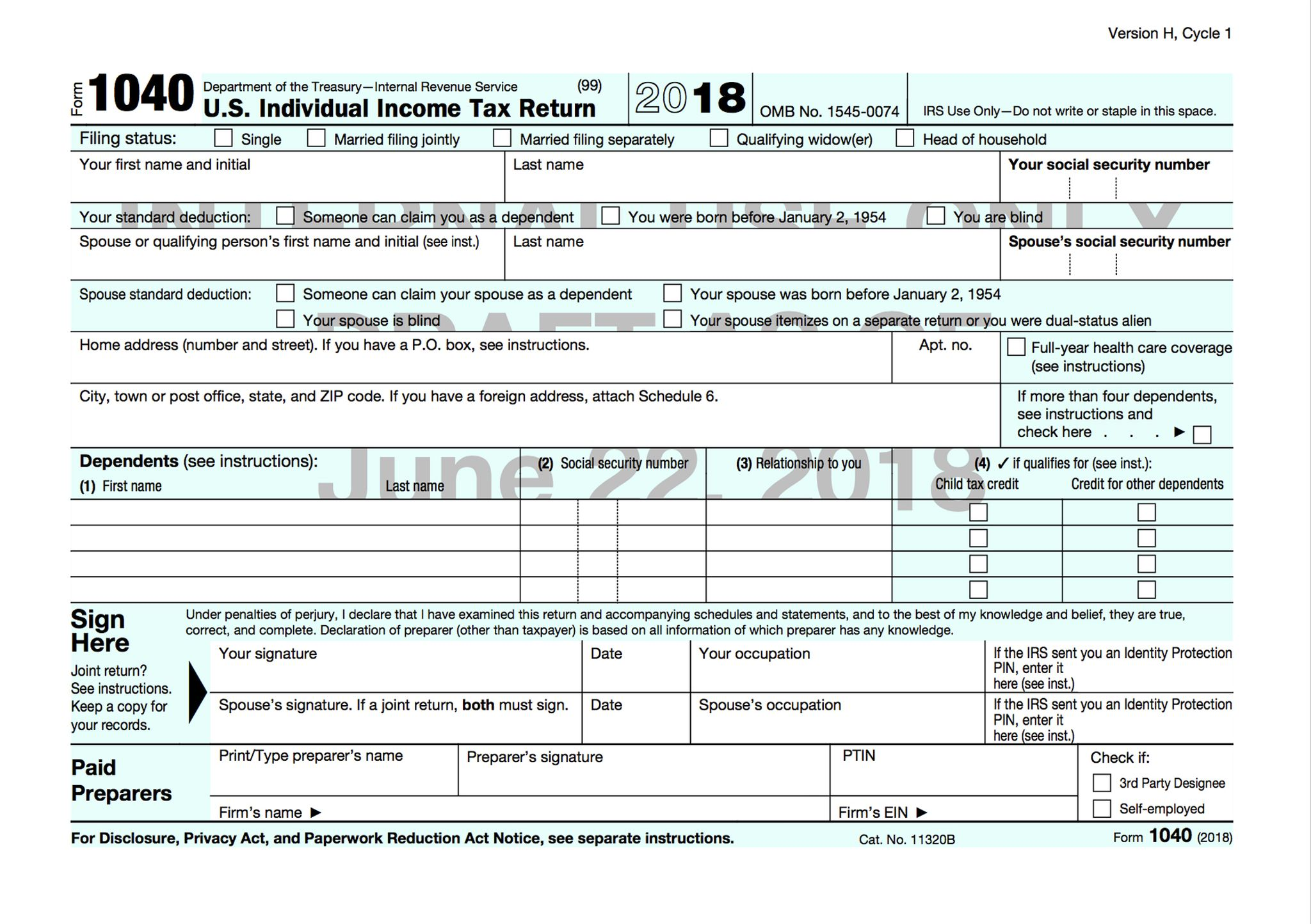 Us Dept Of Treasury Irs Forms