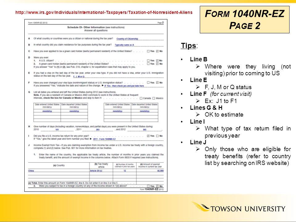 Us Federal Ez Tax Form