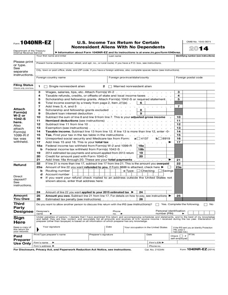 Us Income Tax Form W2