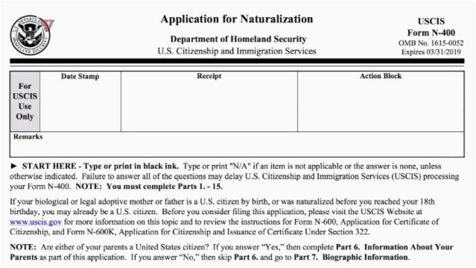 Uscis N 400 Form Example 19 Awesome Uscis N 400 Form Sahilgupta Me Top Result Example Pleted