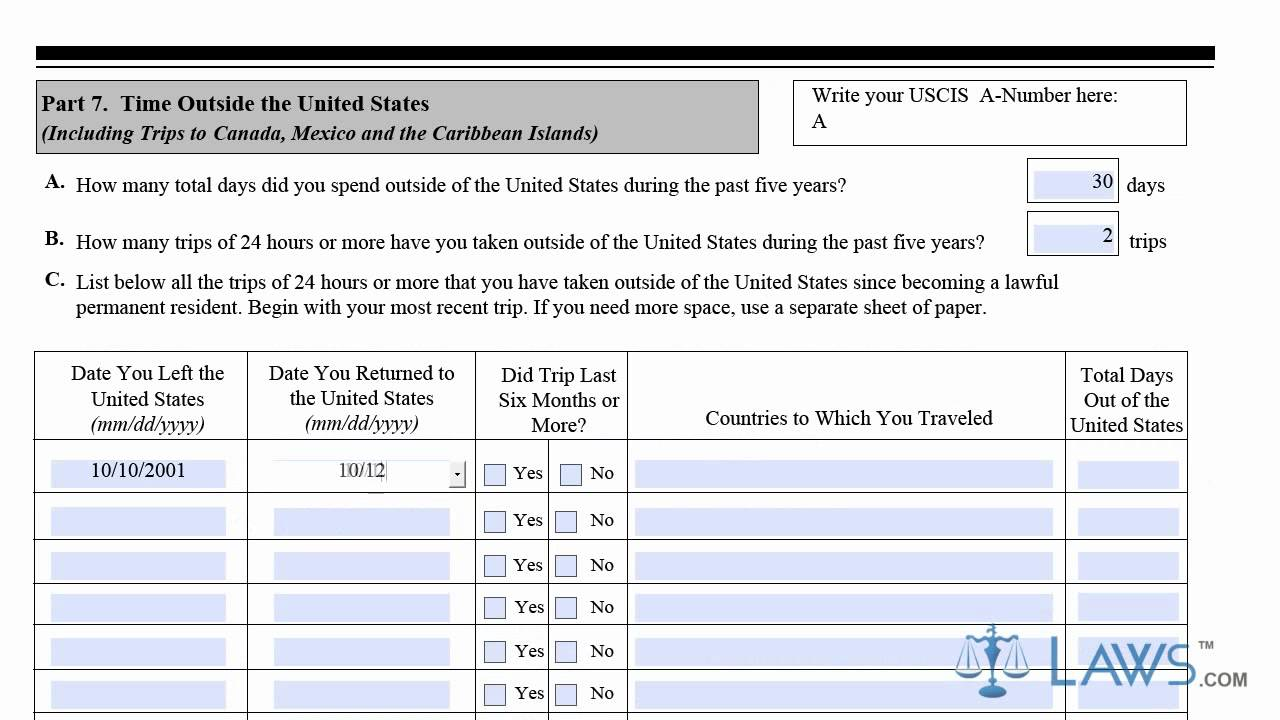 Uscis Form N 400 Updated