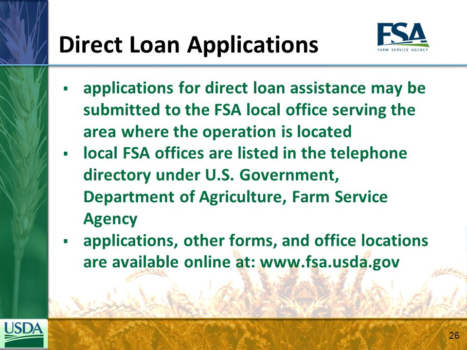 Usda Direct Loan Forms