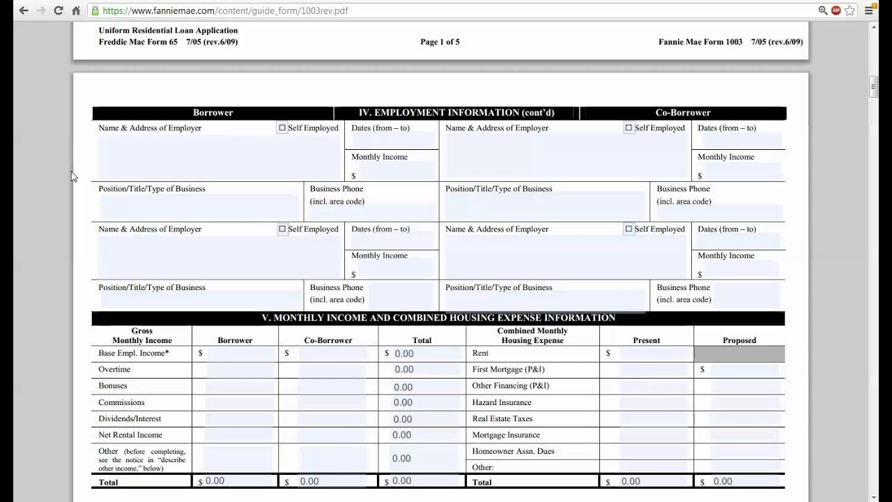 Usda Home Loan Application Forms