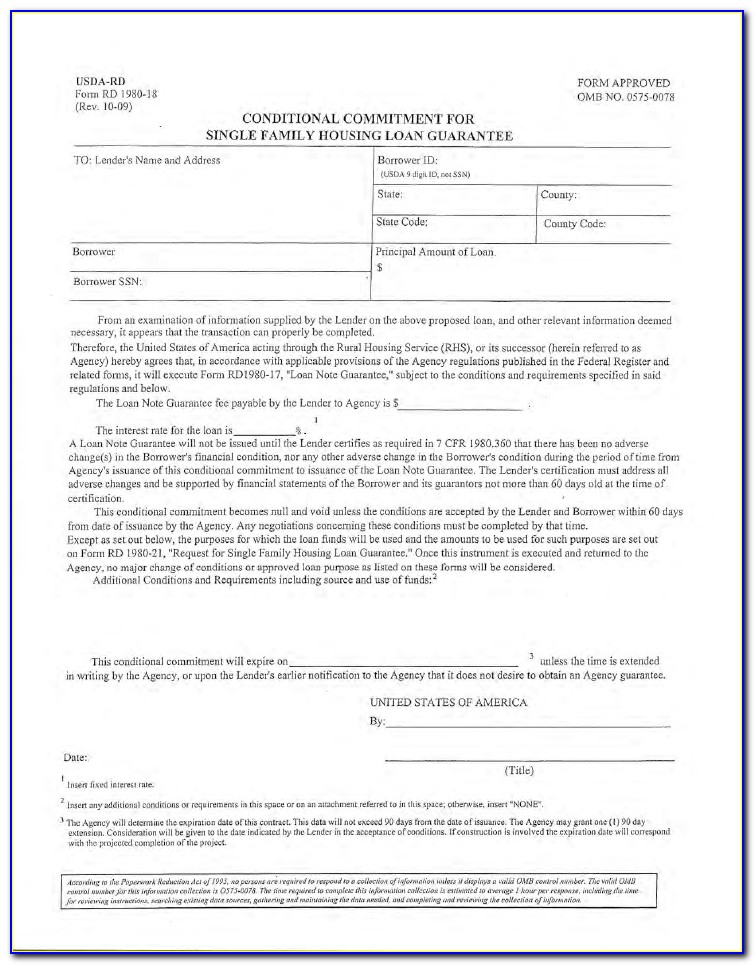 Usda Loan Application Forms