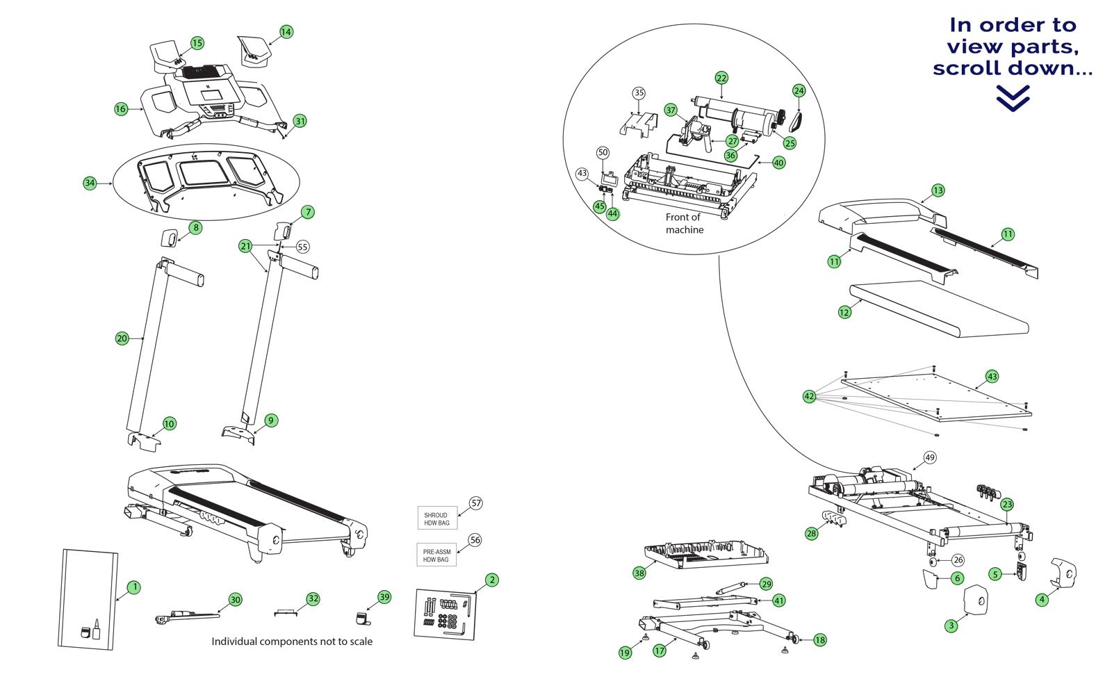 Used Proform Treadmill Parts
