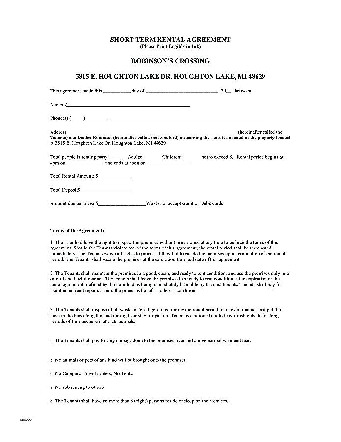 Utility Trailer Rental Agreement Form