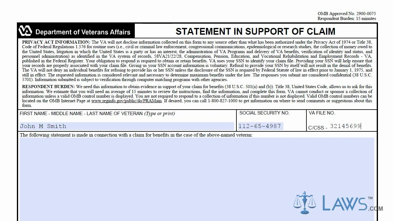 Va Aid And Attendance Form For Veteran