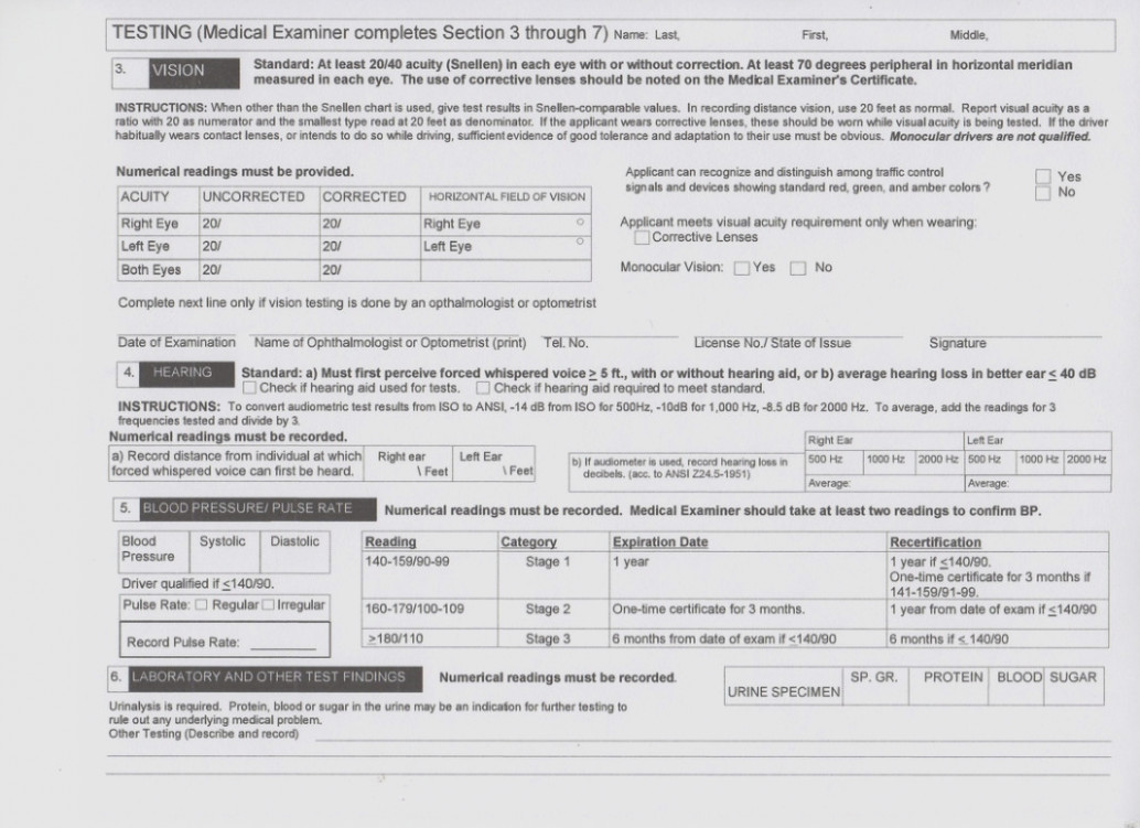 Va Dot Cdl Physical Form