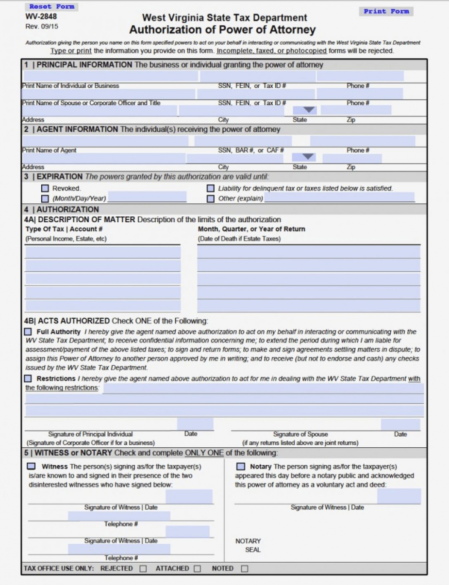 Va Form Power Of Attorney West Virginia Durable Financial Famous Intended For Va Tax Forms Template Review