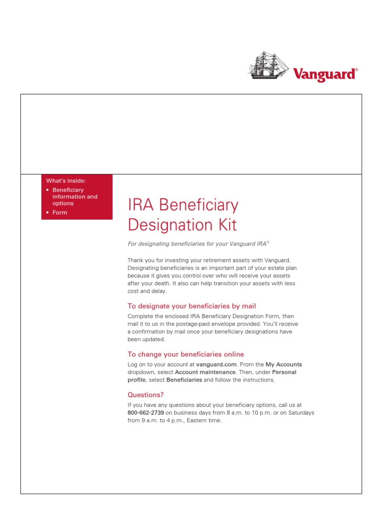 Vanguard 401k Beneficiary Form