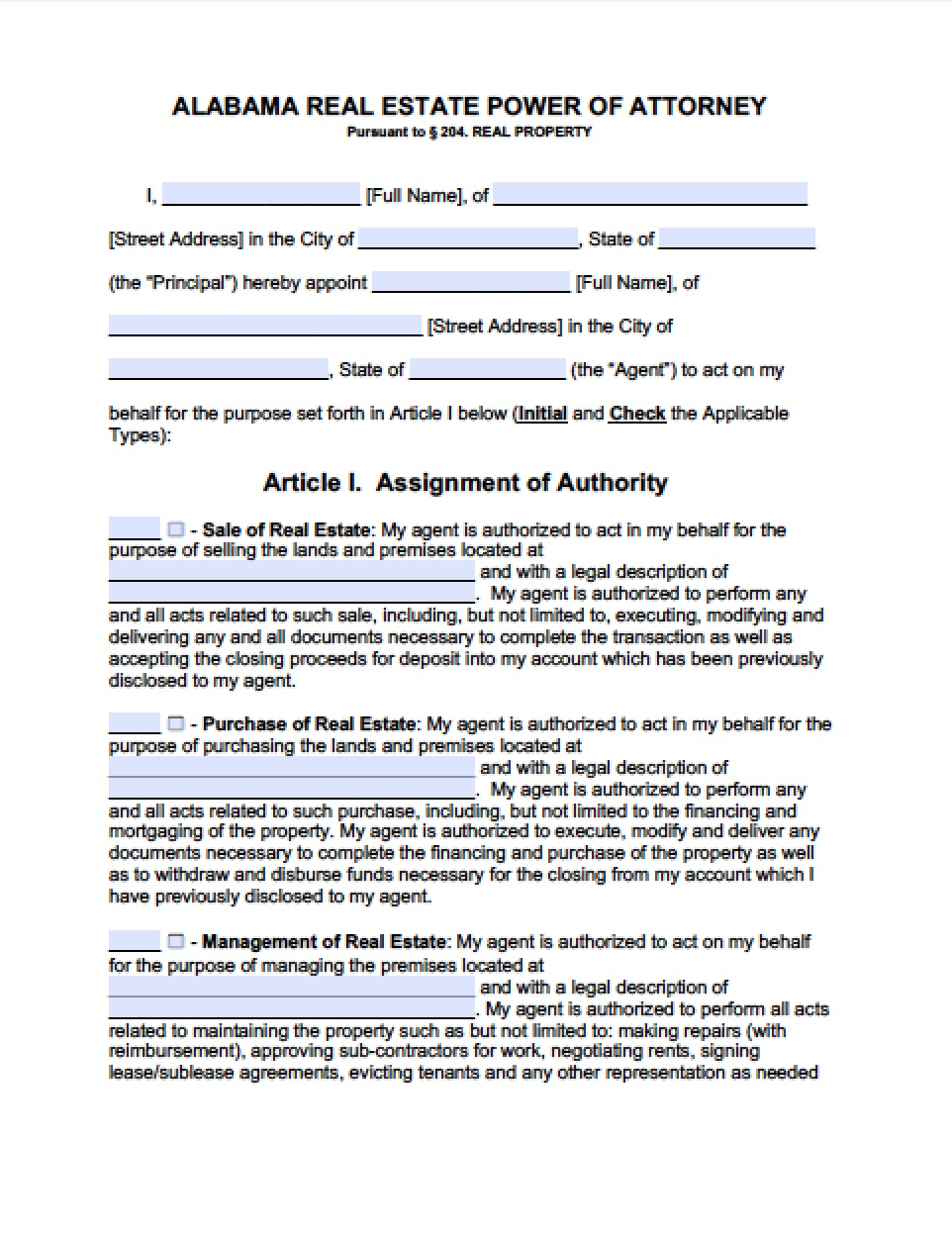 Vermont Power Of Attorney Form For Real Estate