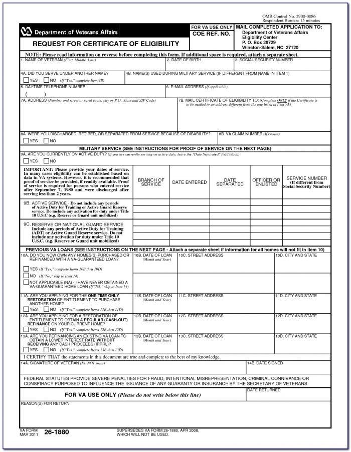 Veterans Administration Form Dd214