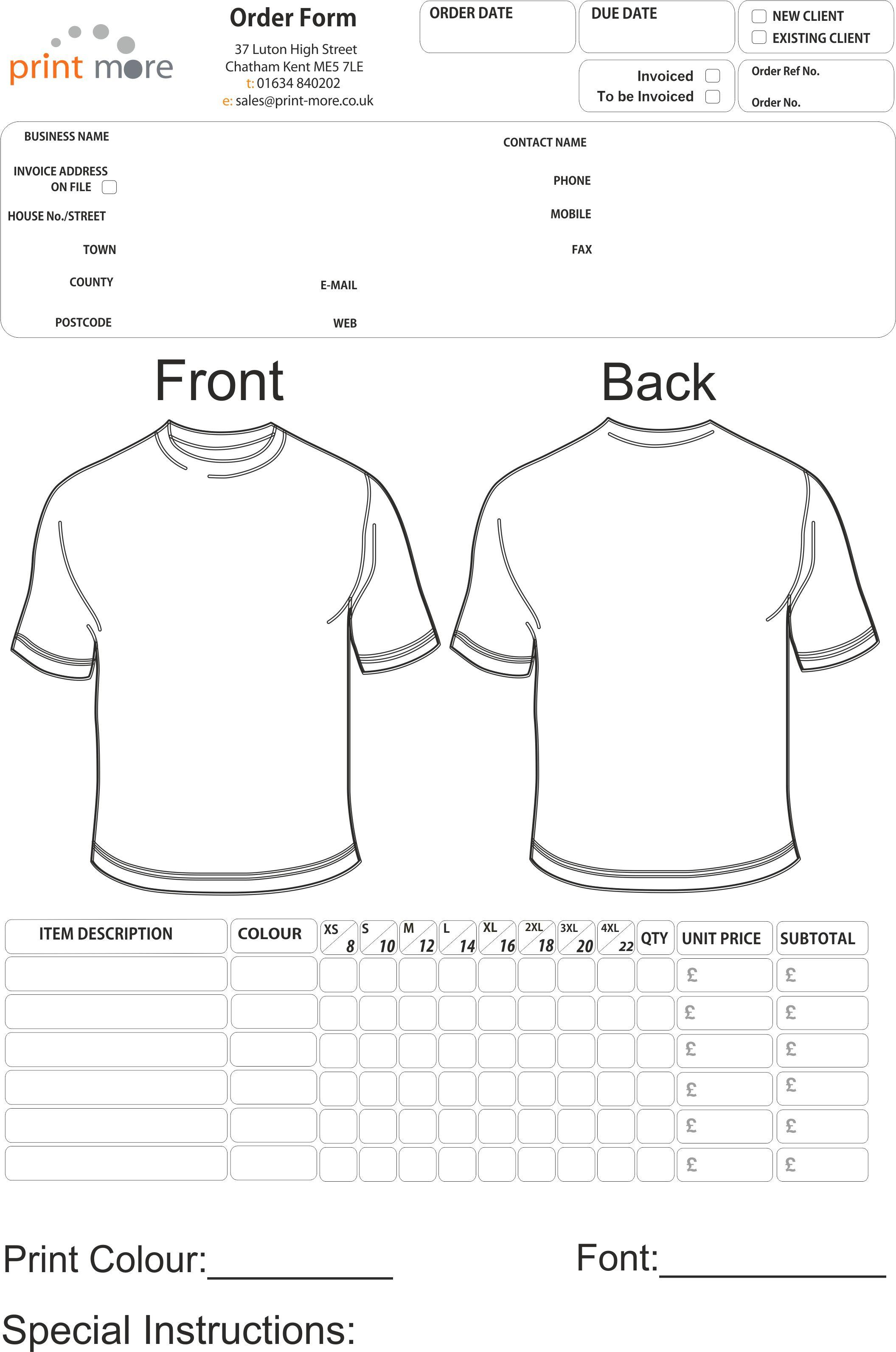 Vista Print Carbonless Forms