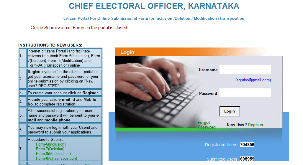 Voters Id Application Form Karnataka