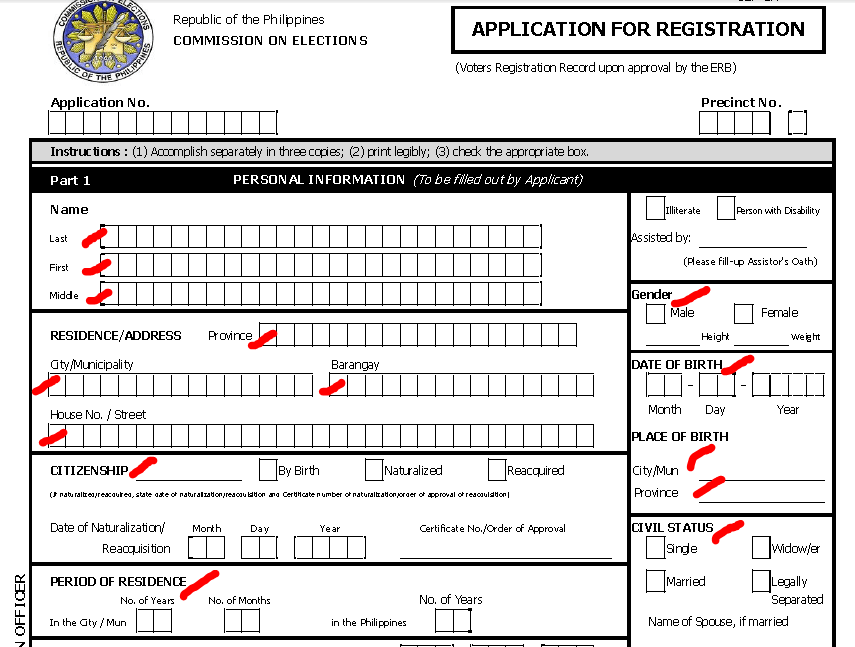 Voters Id Application Form Philippines