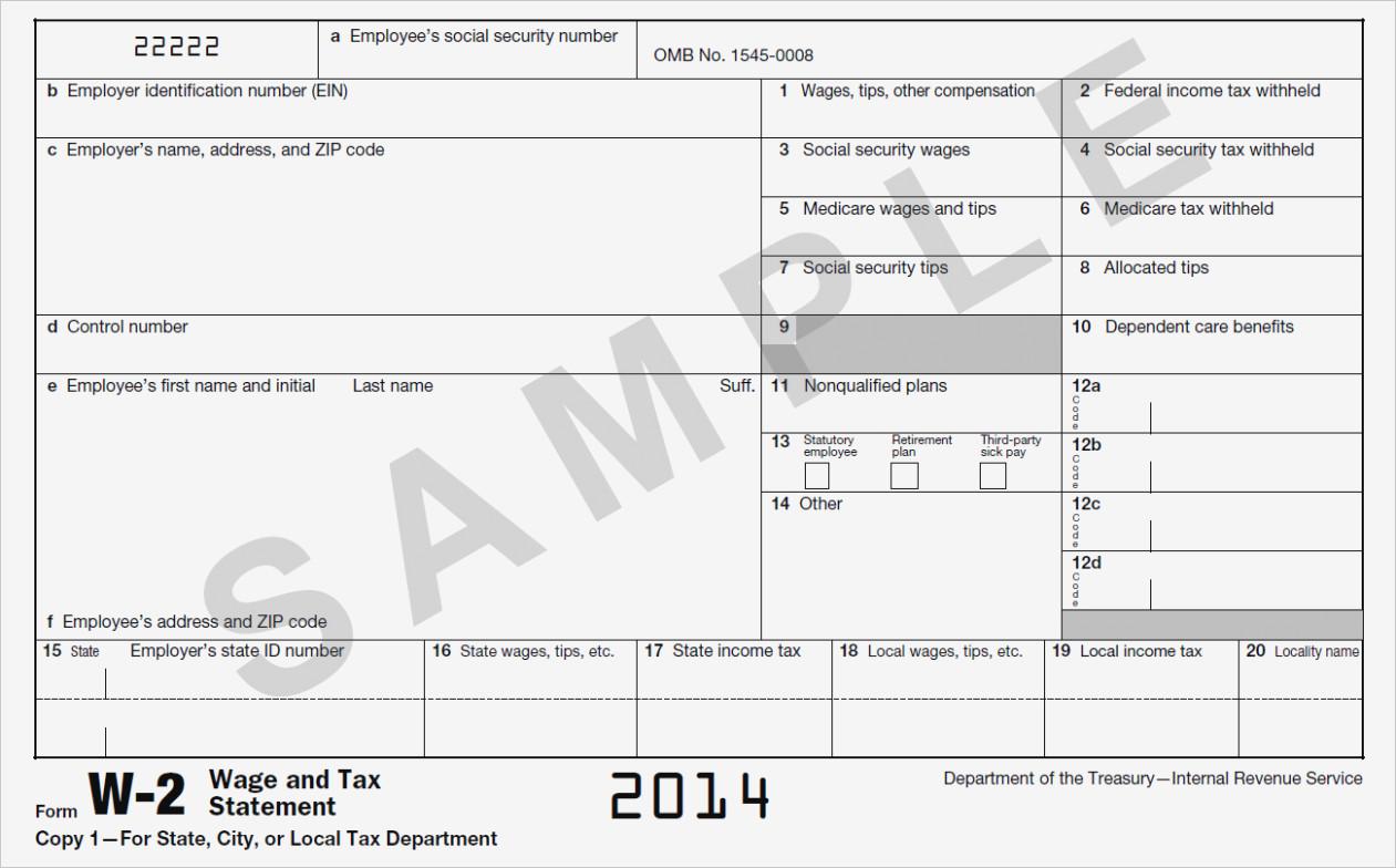 W2 Tax Form Irs