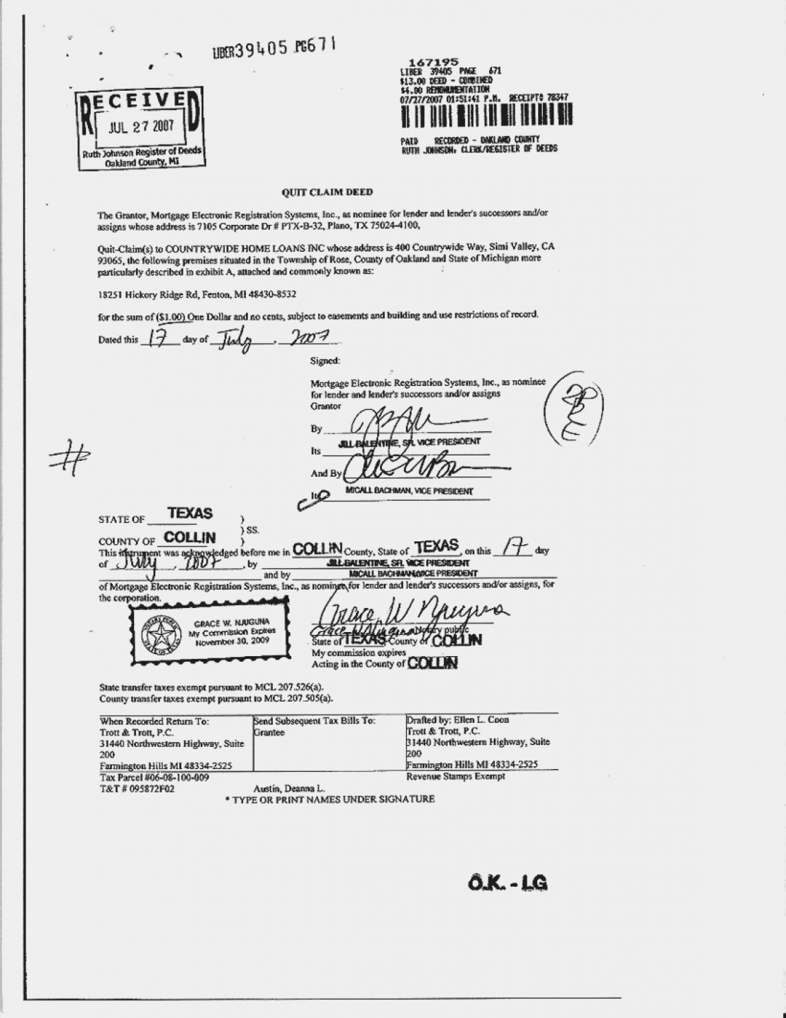 Wayne County Register Of Deeds Quit Claim Deed Form