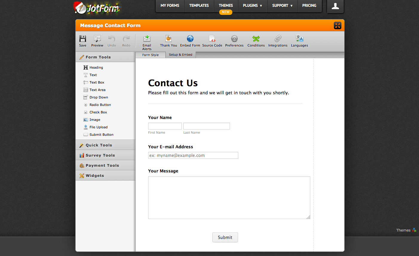 Web Form Builder Tool