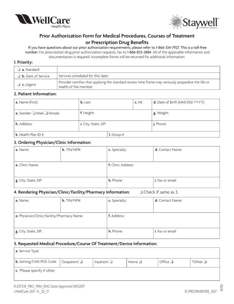 Wellcare Medicare Pa Forms