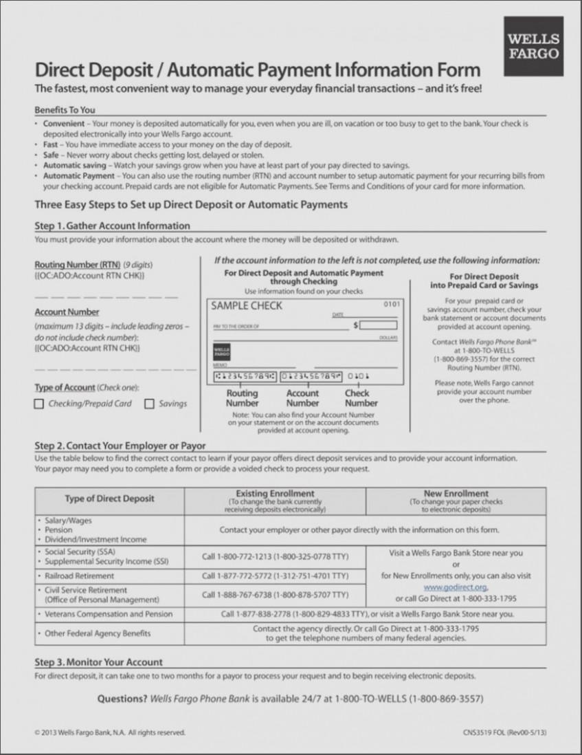 Wells Fargo Mortgage Authorization Form