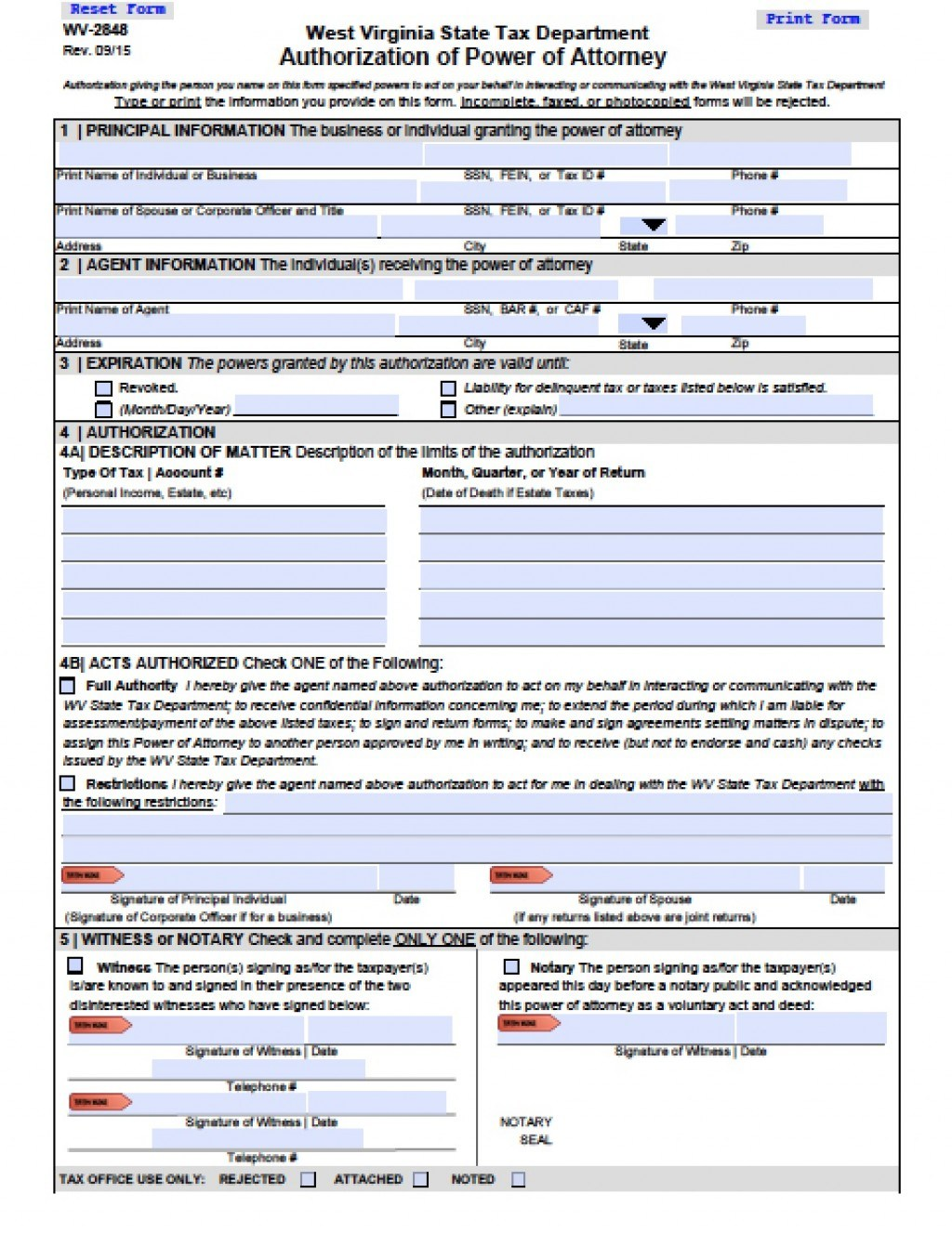 West Virginia State Tax Department Forms