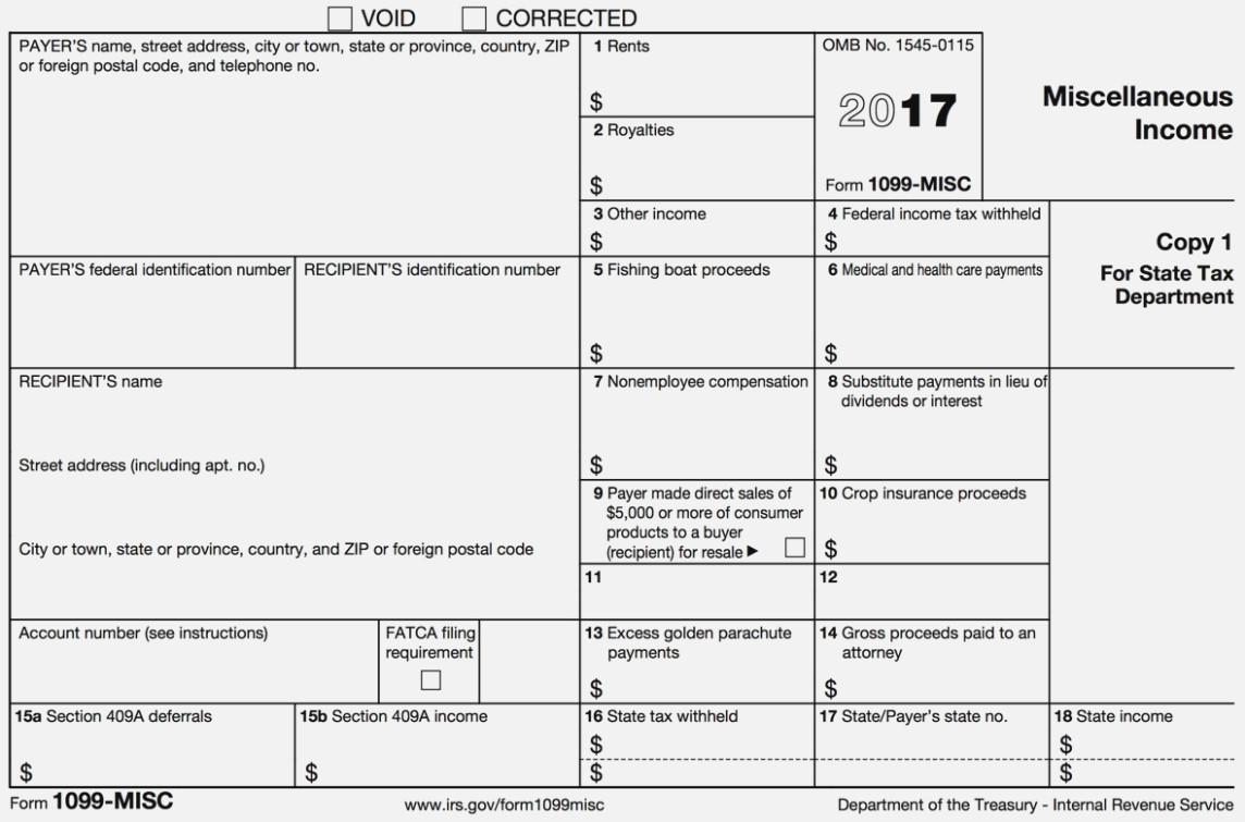What Is A 1099 Misc Tax Form Used For