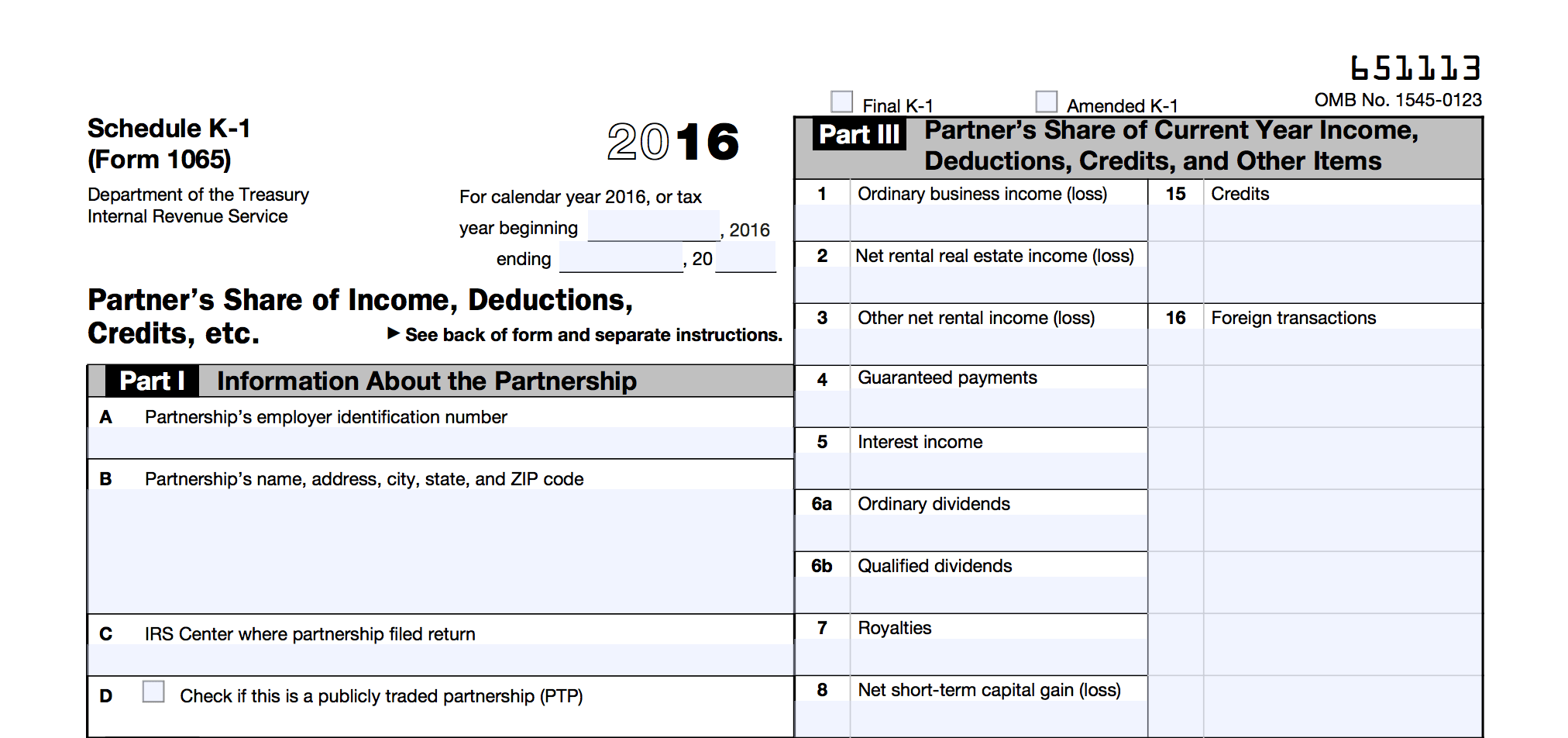 What Is A K1 Form For The Irs