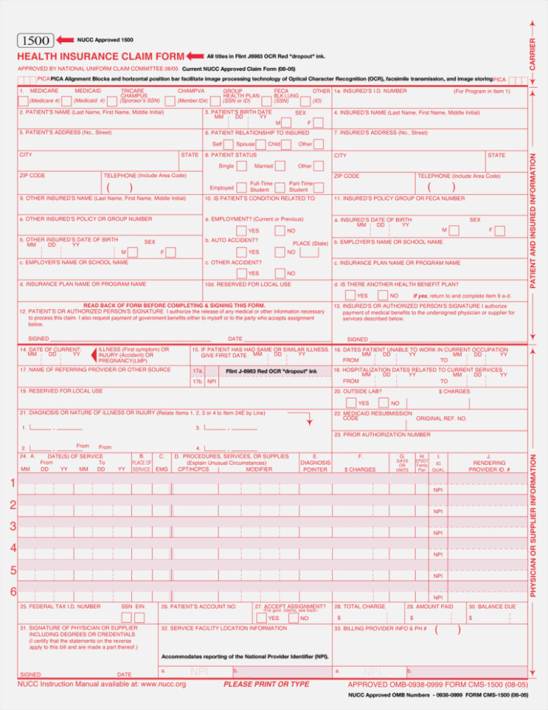 What Is Cms Form 855