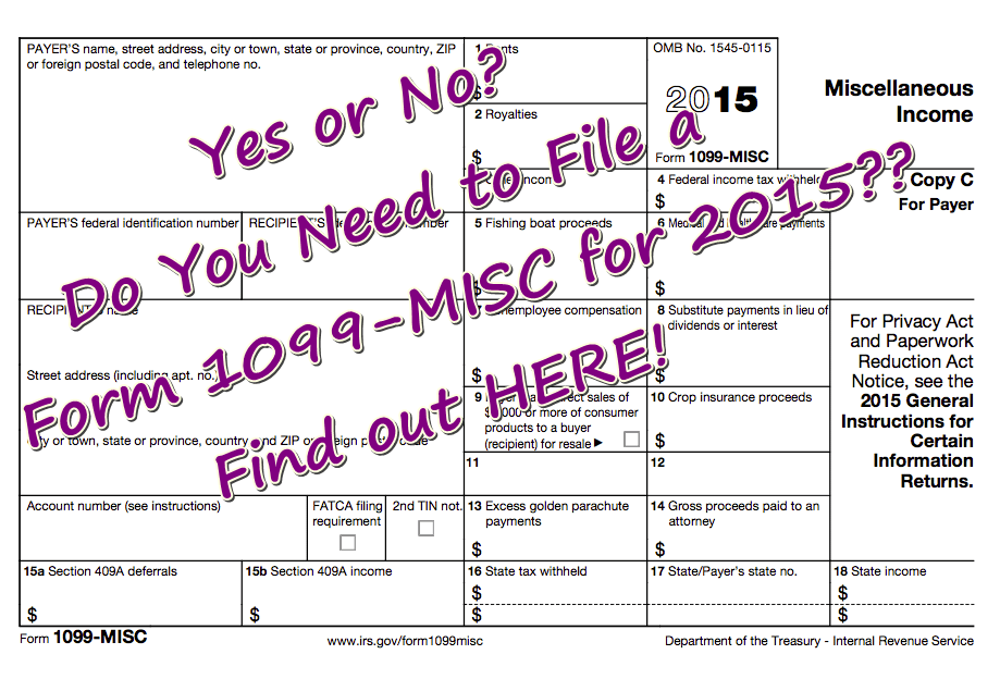 When Do I Have To File Form 1099 Misc