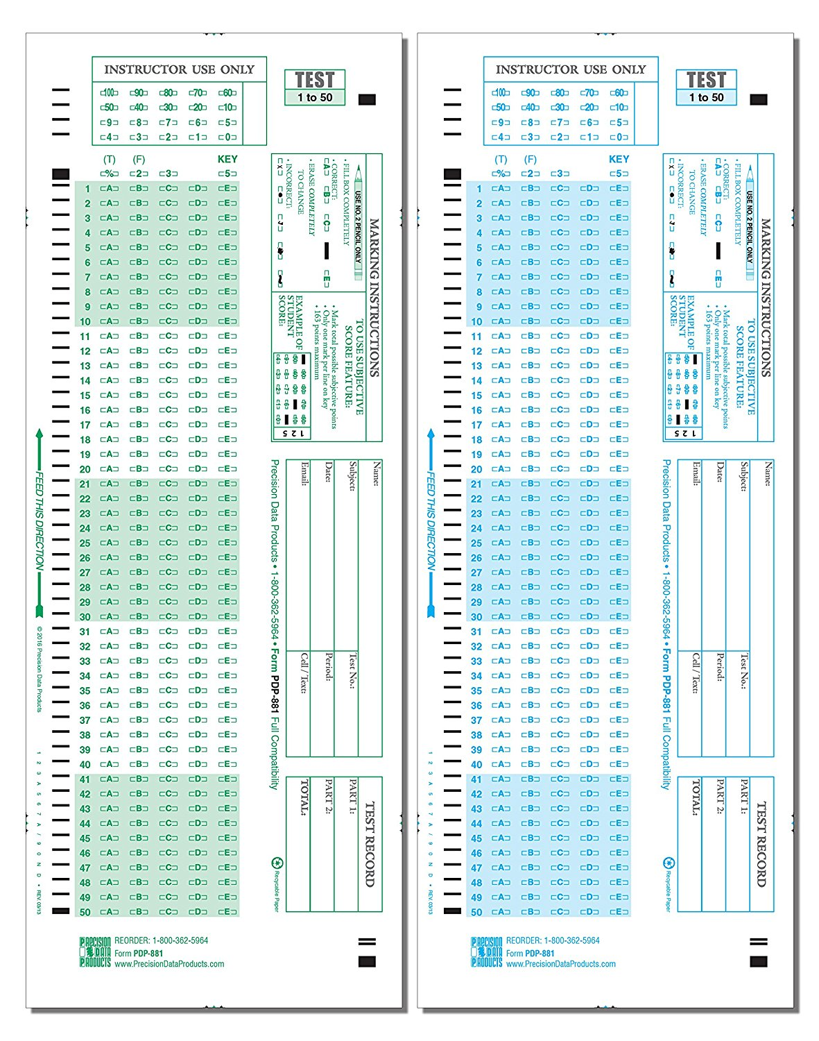 Where Can I Buy Scantron Form 882 E