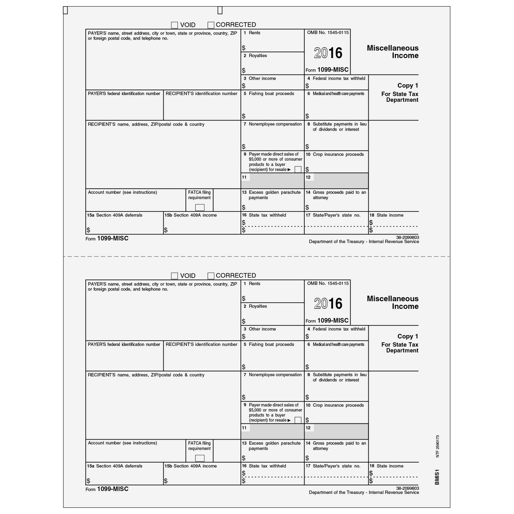 Where To File Form 1099 Misc Copy 1