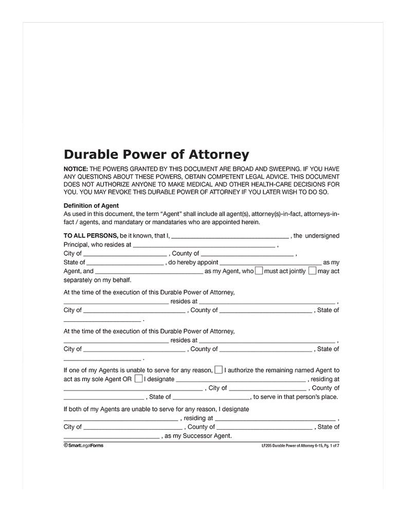 Where To Get Durable Power Of Attorney Forms