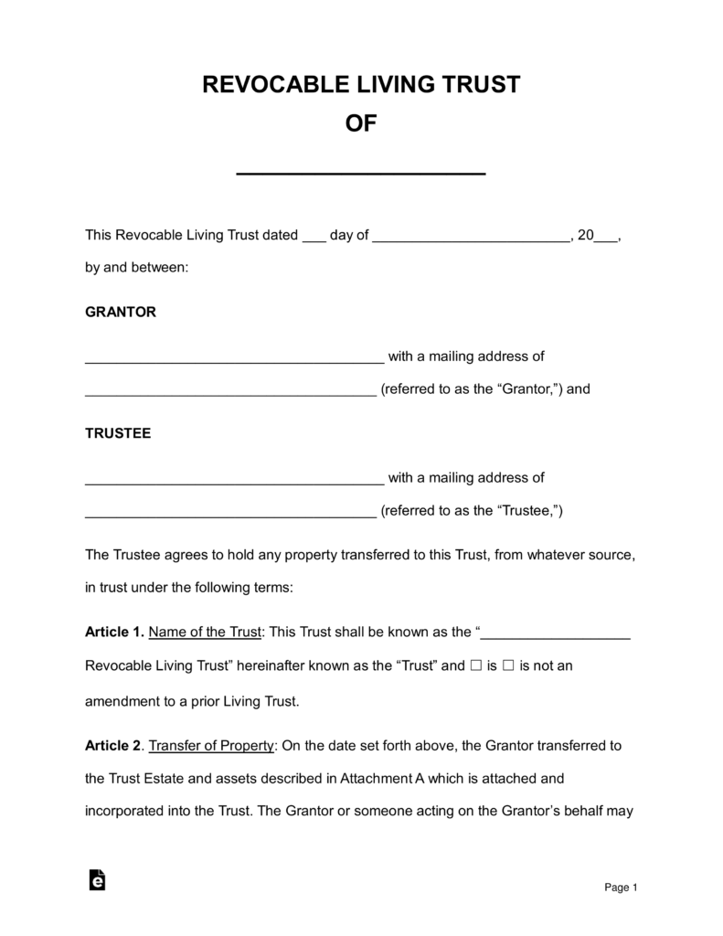 Wills And Trusts Forms Download