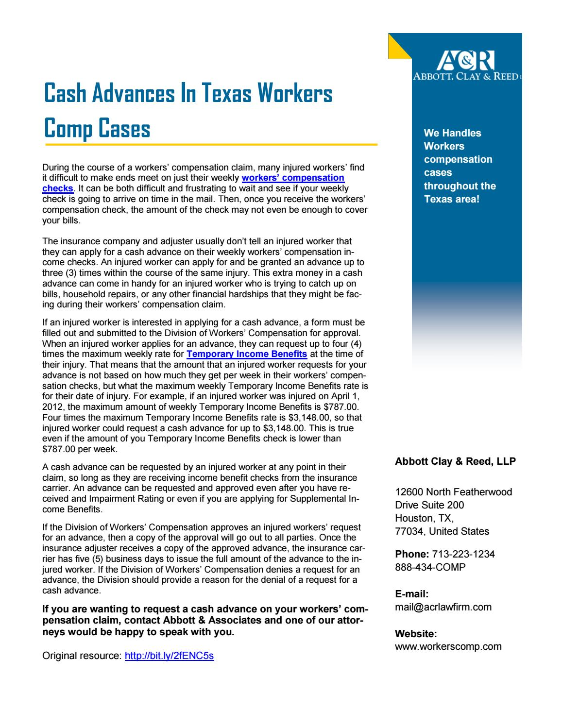 Workers Comp Claim Form Texas