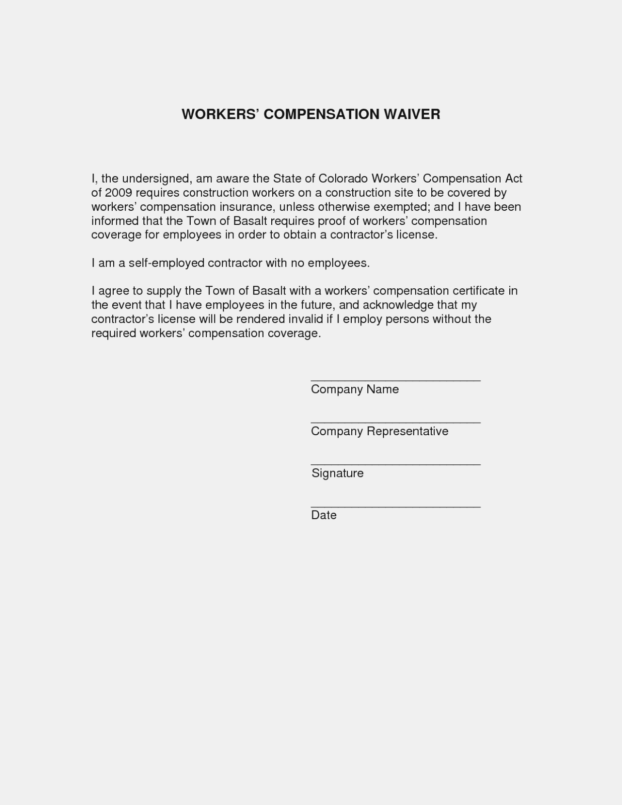 Workers Comp Exemption Form Texas