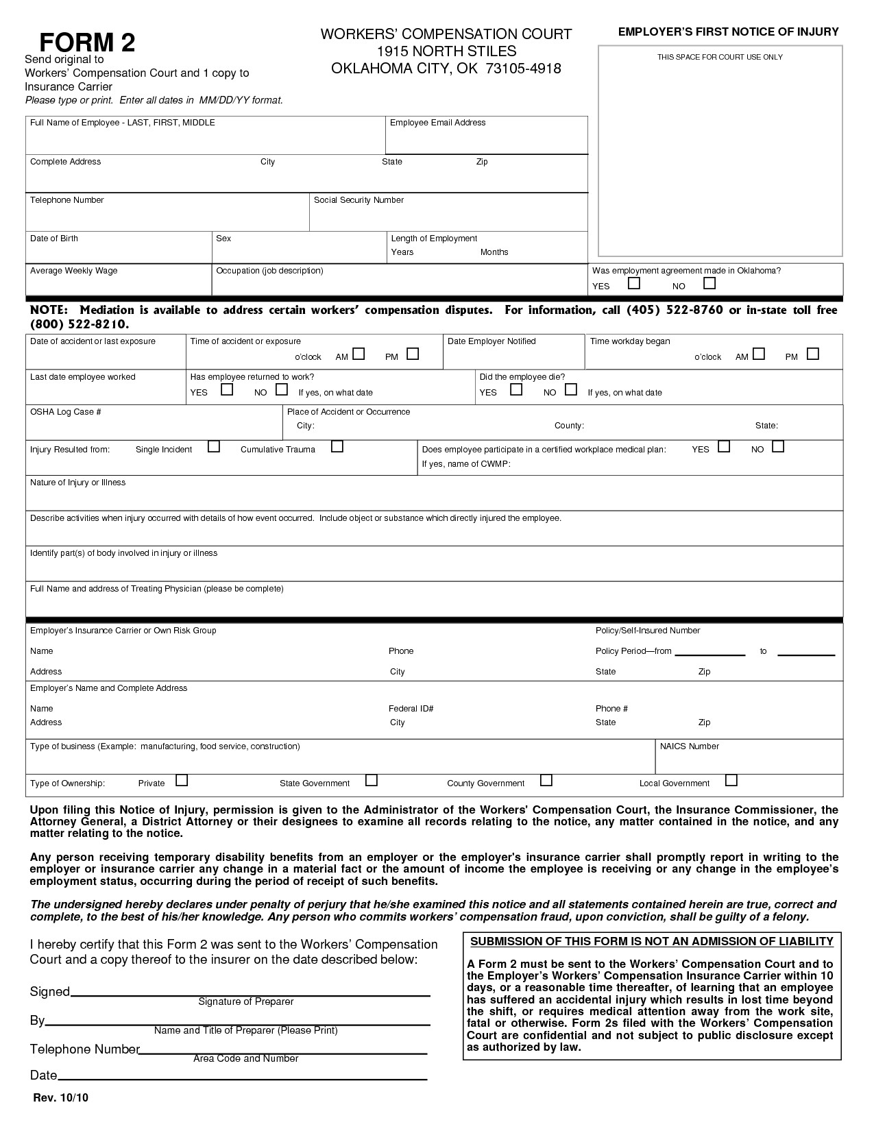 Workers Compensation Exemption Letter Best S Of Texas Work P Waiver Forms Texas Workers