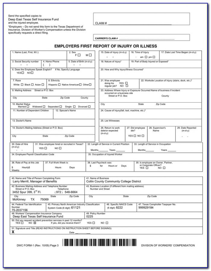 Workers Comp Mileage Form Nc