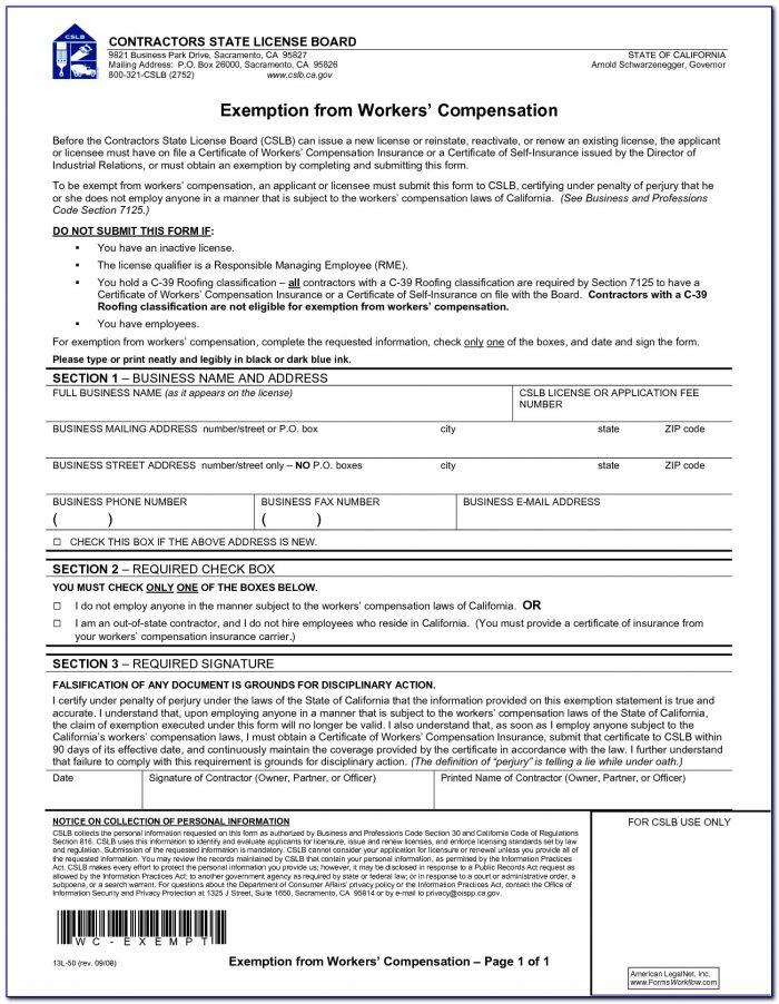 Workmen's Compensation Forms 2015