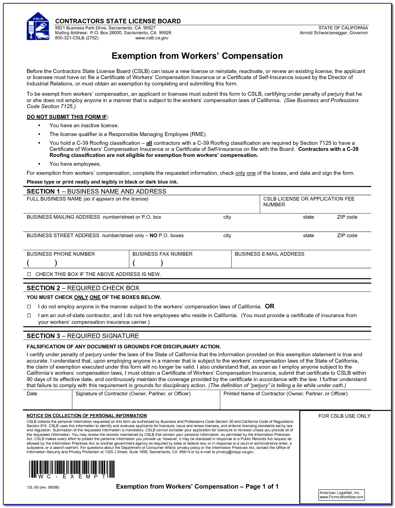 Workmen's Compensation Forms 2017