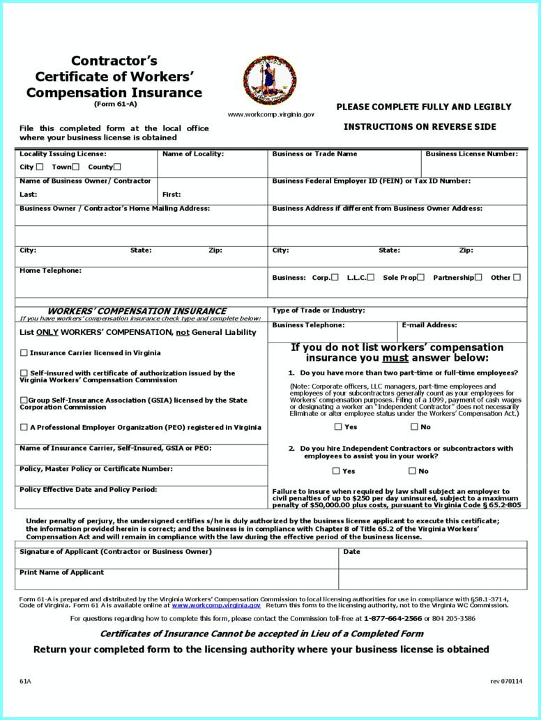 Workmen's Compensation Forms 2018