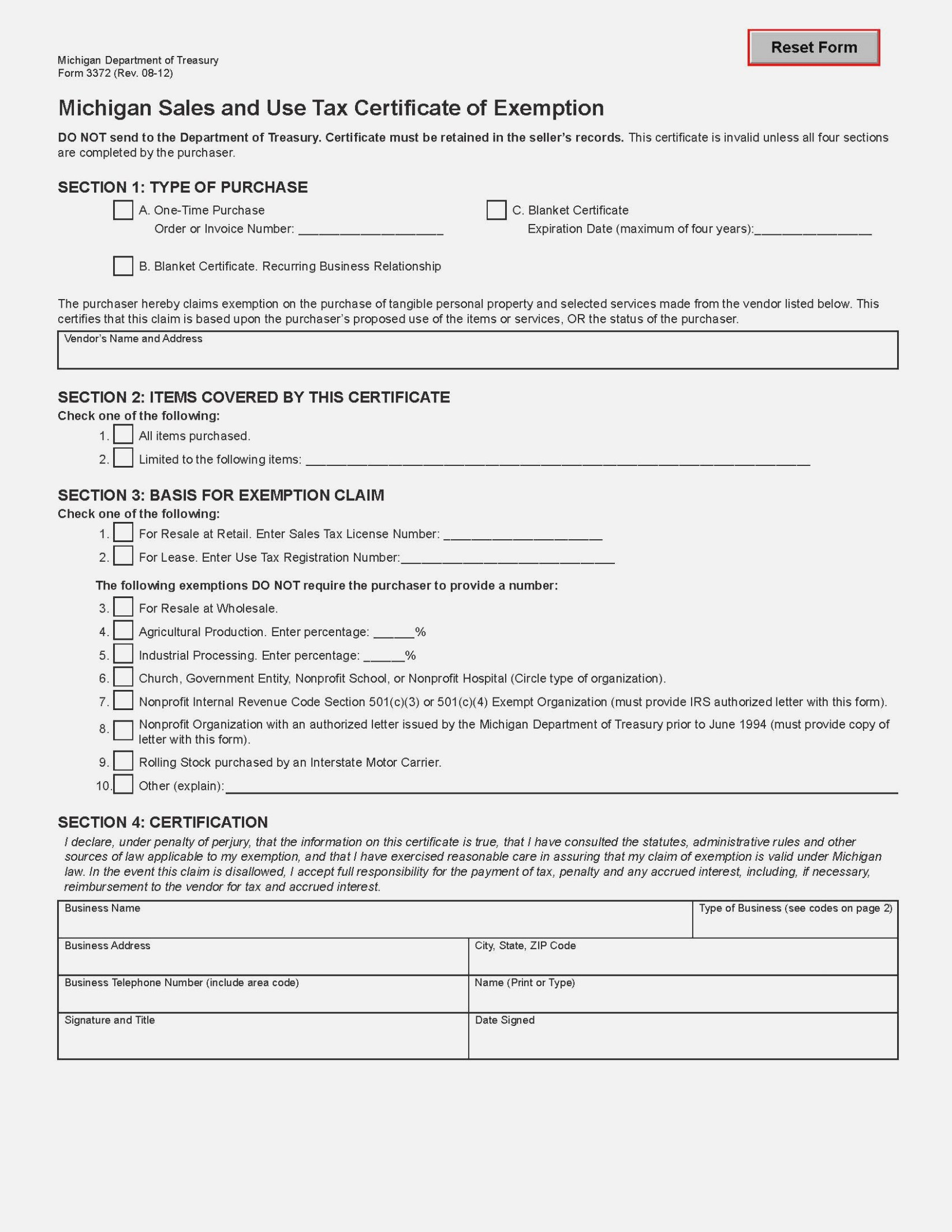 Www.michigan.govtaxes Form 5080