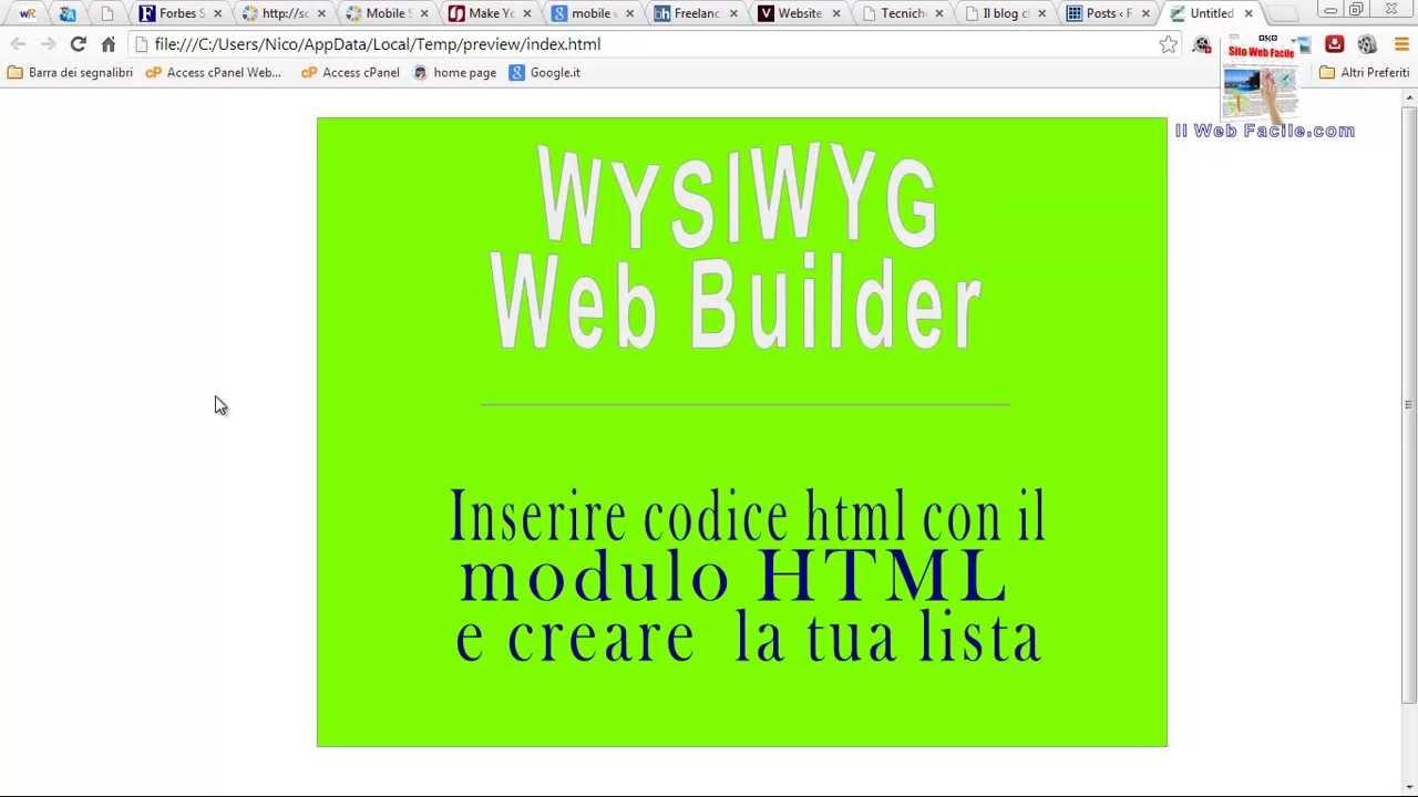 Wysiwyg Html Form Builder