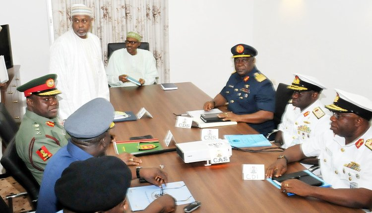 PIC.4.-PRESIDENT-BUHARI-MEETS-WITH-SERVICE-CHIEFS-IN-ABUJA