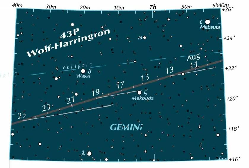 Chart for Comet 43P Wolf-Harrington
