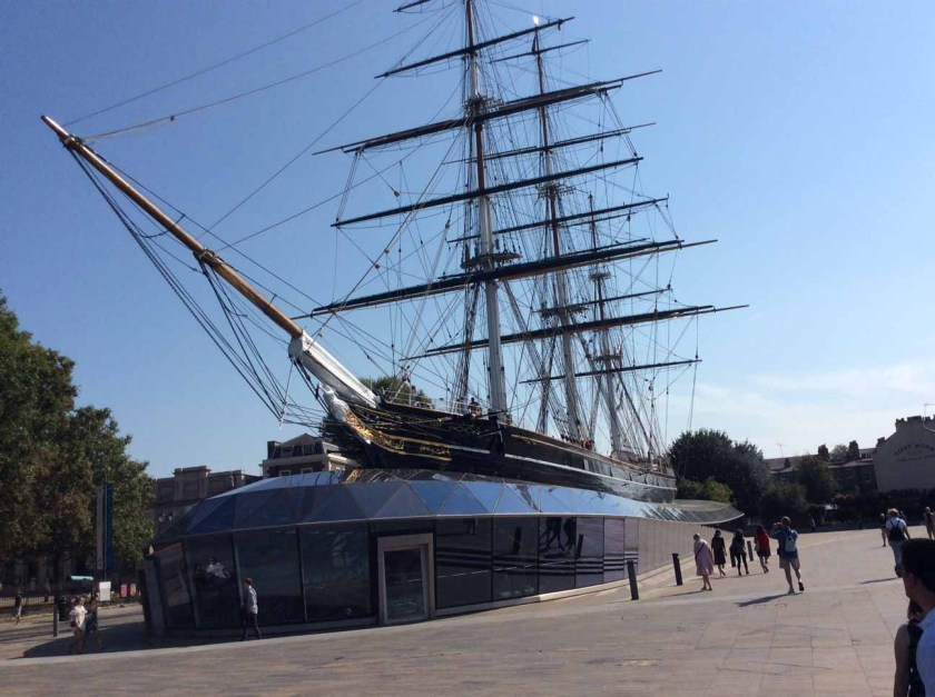 "Cutty Sark on its ""billow"""