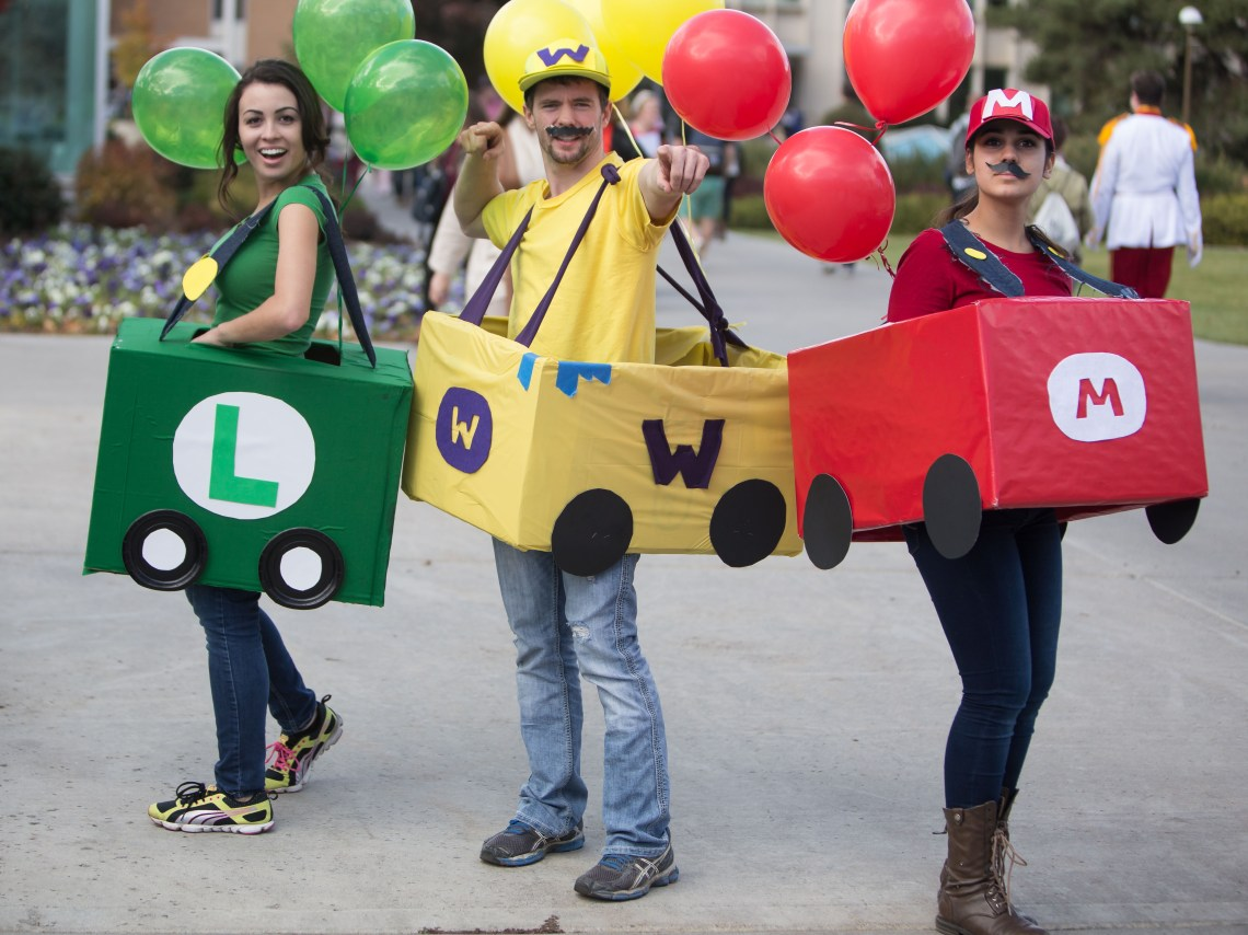 Super Mario costume for three
