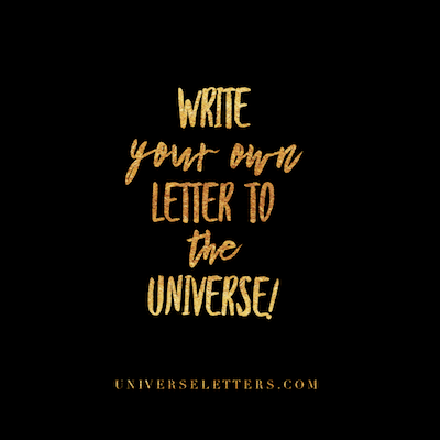 letter to the universe