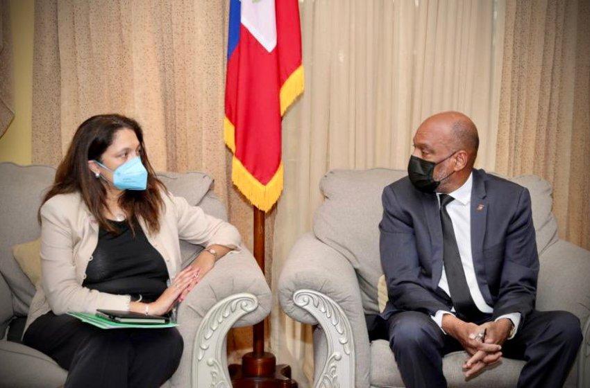Haïti-Crise : Le Premier ministre Ariel Henry rencontre la sous-secrétaire d'État américaine Uzra Zeya sur la situation générale du pays