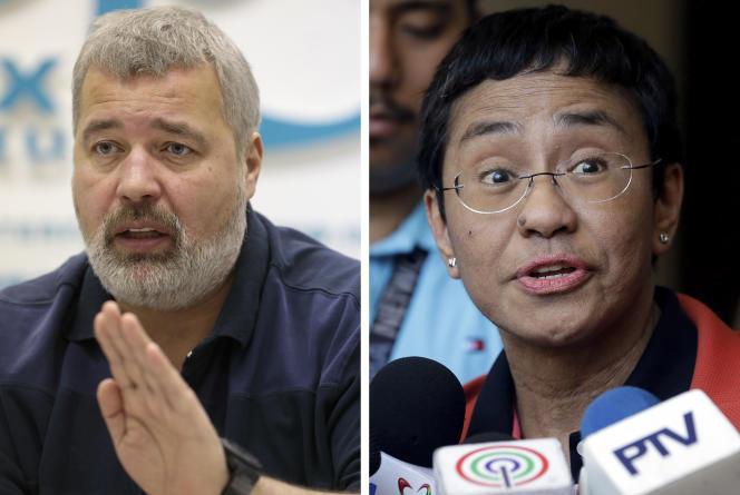 Deux journalistes remportent le Prix Nobel de la paix 2021
