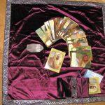 Tapis de Tarot velours et sa pochette